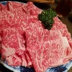 肉屋の肉料理 みずむら - 鹿児島黒毛和牛しゃぶしゃぶ4人前