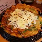 焼肉釜山 - 料理写真:チーズチヂミ