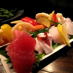 IZAKAYA P/man - '09/01 自家製の野菜ピクルス盛り&刺盛