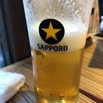 魚真 - 生ビール