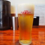 シビレヌードルズ 蝋燭屋 - 生ビール