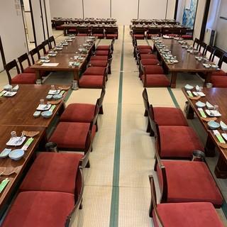 テーブル席・掘りごたつ個室・大広間完備(宴会最大80名可能)