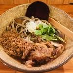 粗挽き蕎麦 トキ - 冷やし鶏そば(950円)