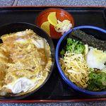 手打ちうどんの店倭 - カツ丼 750円 + 冷やしうどん 250円