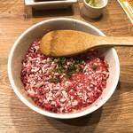 どさんこキッチンレトロなゴリラ - 牛トロ丼