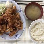 札幌市手稲区役所 食堂 - メガザンタレ定食