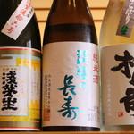 当店の焼酎・日本酒は店主がこだわって厳選した限定銘柄などを取り揃えております。