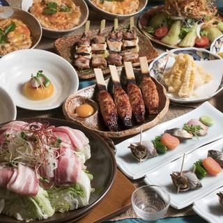 3500円宴会コース比内地鶏に本鮪、鴨せり鍋と旨さ目白押し!