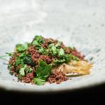 abysse - 稚鮎  マッシュルーム オリーブの種 山菜