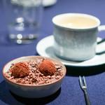 abysse - チョコレート  デーツ トンカ豆、フレッシュハーブティー