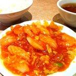 白鳳 新館 - 2種海鮮のチリソース