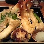 築地寿司岩 - 天麩羅盛り合わせ
