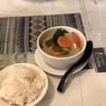タイキッチン チャバ - 料理写真:グリーンカレーwithジャスミンライス 850円