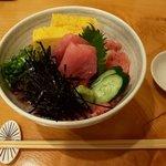 寿司 海老原 - ネギトロ丼(上から)(2019.5)