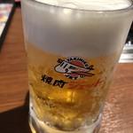 焼肉ジェット - とりあえず生ビールを!