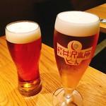 109833180 - 軽井沢高原ビール ワイルドフォレスト 樽生(右)、よなよなエール 樽生(左)  各600円