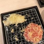 かっちゃん - 追加(紅ショウガとキツネ納豆)