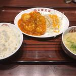 大阪王将 - エビチリ定食