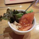 ワサビー - セットのサラダ