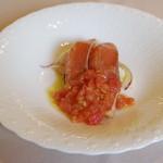 ラ リベラ - 料理写真:燻した桜鱒のサラダ