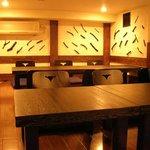 麹や つづみ亭 - 宴会で人気の、貸切できるロフト風お座敷席です。