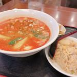 Tonkou - ◆四川風担々麺+半チャーハン 800円