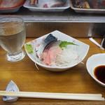丹倉 - 冷酒(立山 吟醸) & 鯖きずし