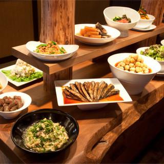 ≪1F≫ランチ・ディナーで開催◇「おばんざい」の食べ放題!