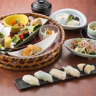 ≪2F≫ゆるり満喫「御膳料理」◆直送地魚の「知多前鮨」に注目