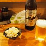 いどや - ポテトサラダ & ビール(大瓶)