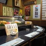 割烹 司 - 店内(カウンター席②)