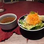 パチョ - 先にサラダとスープ