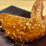 鶏三和 - 手羽唐揚(¥130)
