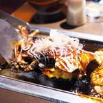 京ちゃばな - 石川県産 丸ごと一匹使ったイカお好み焼き