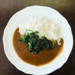ドウジマカフェ - ほうれん草カレー