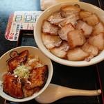 喜多方ラーメン 坂内 小法師  - 焼豚ラーメン 大盛と炙り焼豚ご飯