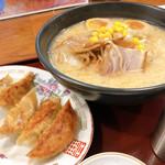 仙之助 - ◆札幌味噌ラーメン 864円 ◆煮玉子 108円 ◆餃子 259円