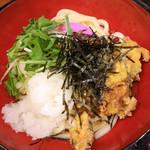 丸亀製麺 - あさりのバラ天ぶっかけ