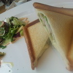 10990959 - ベーコン・チーズ・トマトのホットサンド(トマトは嫌いなので抜いてもらいました笑)