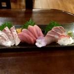 海鮮市場 からっ風 - 【2019.6.18(火)】本日のおすすめ!刺身三種盛り980円