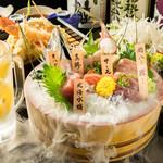 鮮魚の桶盛りと創作天ぷら 天しゃり - 料理写真: