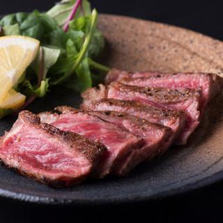 雑誌掲載で超貴重都萬牛のサーロインステーキ