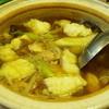 ひいらぎ - 料理写真:鶏と団子が入った鍋