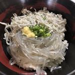 田子の浦港 漁協食堂 - ハーフ丼  ご飯少なめ