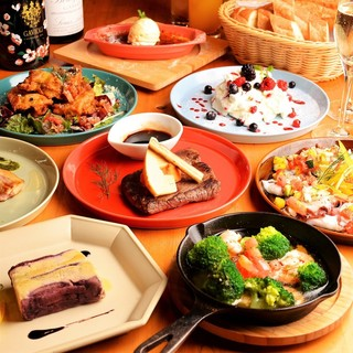 ●ビストロ感覚でご利用ください♪野菜も豊富でボリューム満点◎