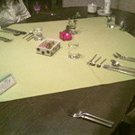 mignon hotel de noel - お夕食のときのテーブルです