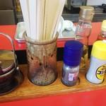 好陽軒 - ◆卓上調味料♪◆ラー油、高麗人参、りんご酢黒コショウ、コショウ、ガーリック♪◆