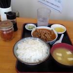 109941914 - もつ煮定食 ご飯普通 590円!!