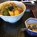 中国山地蕎麦工房ふなつ - 奥出雲まいたけ天ぷらそば全容