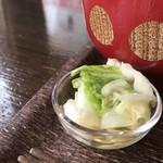自家焙煎コーヒーcafe・すいらて - 白菜の浅漬けも爽やかです(2019.6.19)